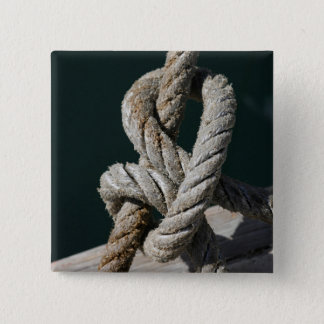 A Tied Knot On A Jetty | Portugal 15 Cm Square Badge