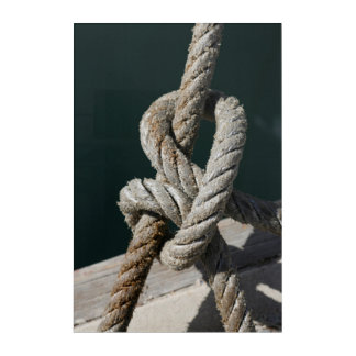A Tied Knot On A Jetty | Portugal Acrylic Wall Art