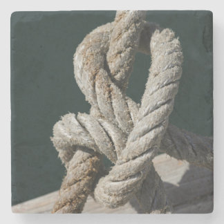 A Tied Knot On A Jetty | Portugal Stone Coaster