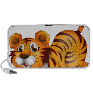 A tiger in a jumping position iPhone speaker
