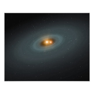 A tight pair of stars and a surrounding disk photo art