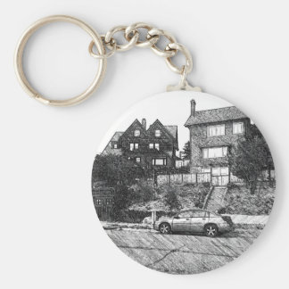A Timber House in the Berkeley Hills Keychain