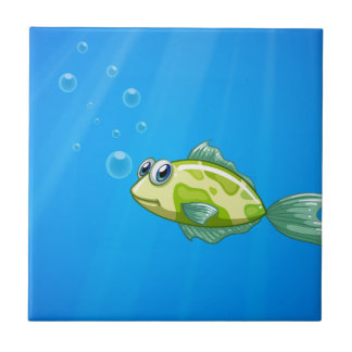 A tiny fish in the ocean small square tile