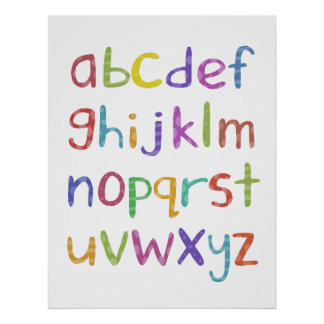 A to Z  - poster print