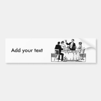 A toast bumper sticker