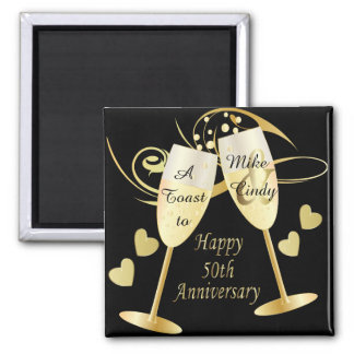 A Toast to a 50th Anniversary | DIY Text Square Magnet