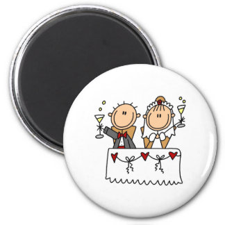 A Toast To The Bride And Groom Magnet