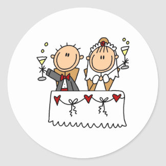 A Toast To The Bride And Groom Sticker