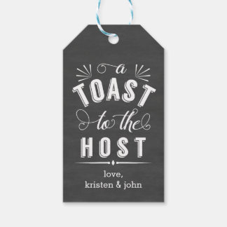 A Toast to the Host | Vintage Chalkboard Wine