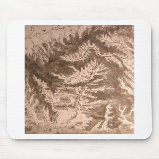 A topographical map mouse pad