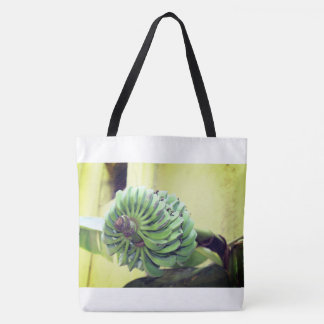 A tote bag with a beautiful picture on it.