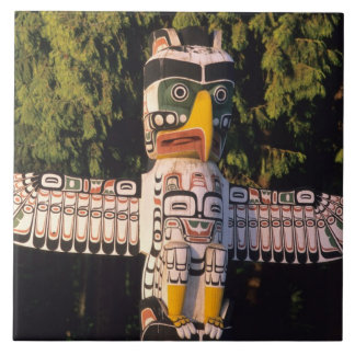A totem pole In Vancouver, Canada. Tile