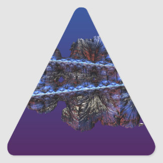 A touch of frost - landscape triangle sticker