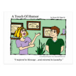 """A Touch of Humour"" Massage / Laundry Comic Mug Postcard"