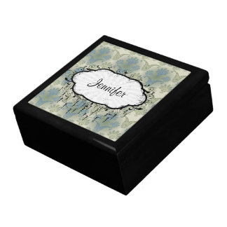 a touch of peacock damask design gift box