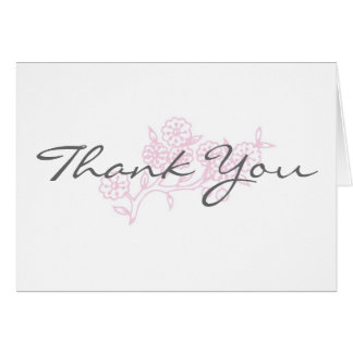 A touch of pink Thank You Cards