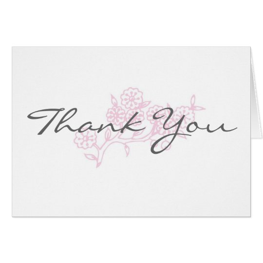 A touch of pink Thank You Card