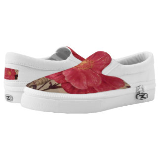 "A Touch Of Spring"" Zipz Slip-On Shoes/ US Women Printed Shoes"