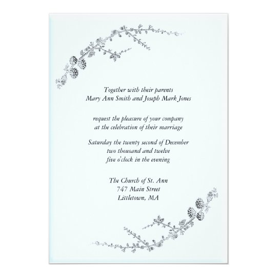 A touch of Winter Wedding Invitations