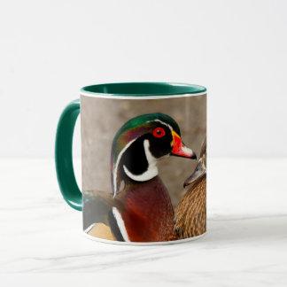 A Touching Moment Between Wood Duck Lovebirds Mug