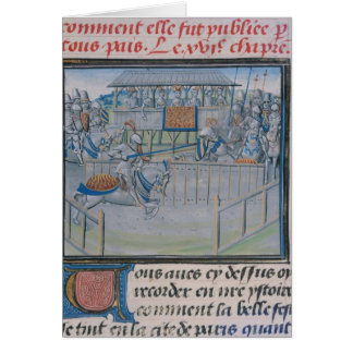 A Tournament in London: Jousting Greeting Card