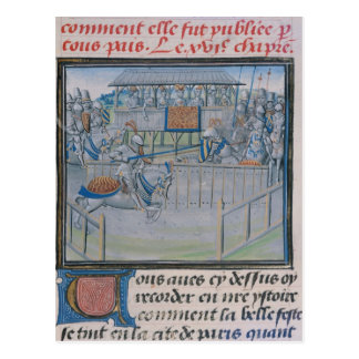 A Tournament in London: Jousting Postcard