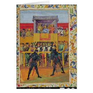A Tournament of Hand-to-Hand Combat Greeting Card