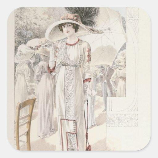 A town dress, from 'Les Grandes Modes de Paris' Stickers
