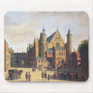 A Town Square in Haarlem Mouse Mat