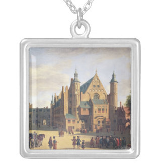A Town Square in Haarlem Silver Plated Necklace
