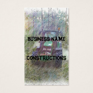 A tractor in the forest business card