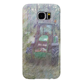 A tractor in the forest samsung galaxy s6 cases