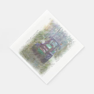 A tractor in the forest standard luncheon napkin