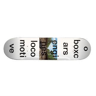 A train themed skateboard