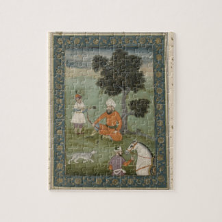 A Trans-Oxonian nobleman seated beneath a tree, fr Jigsaw Puzzle