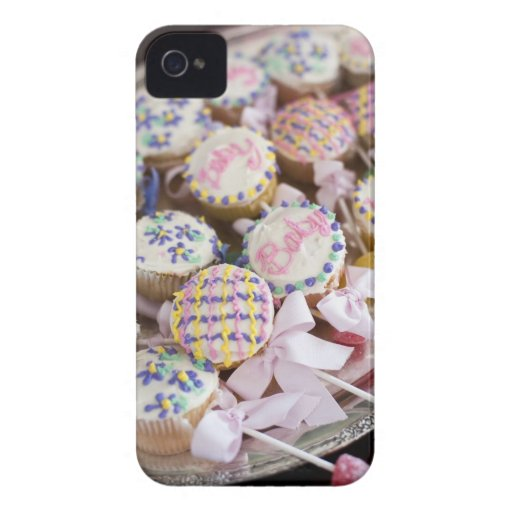 A tray of baby rattle cupcakes at a baby shower. Case-Mate iPhone 4 case