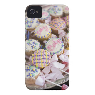 A tray of baby rattle cupcakes at a baby shower. iPhone 4 cover