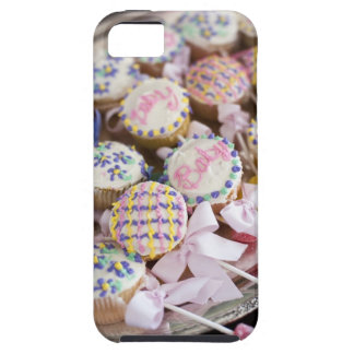 A tray of baby rattle cupcakes at a baby shower. iPhone 5 cases