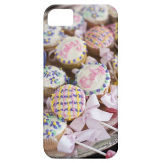 A tray of baby rattle cupcakes at a baby shower. iPhone 5 cover