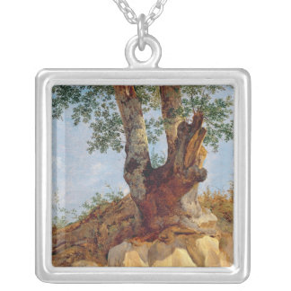 A Tree in Campagna, 1822-23 Silver Plated Necklace