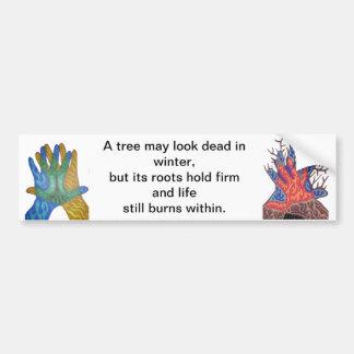 A Tree in Winter Bumper Stickers