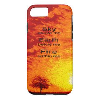 A Tree & Orange, Red & Yellow Sunset Sky-Vibran iPhone 8/7 Case