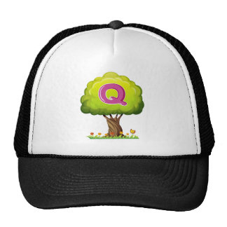 A tree with a letter Q Trucker Hat