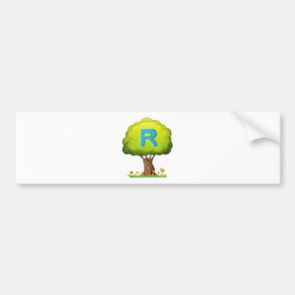 A tree with a letter R Bumper Sticker