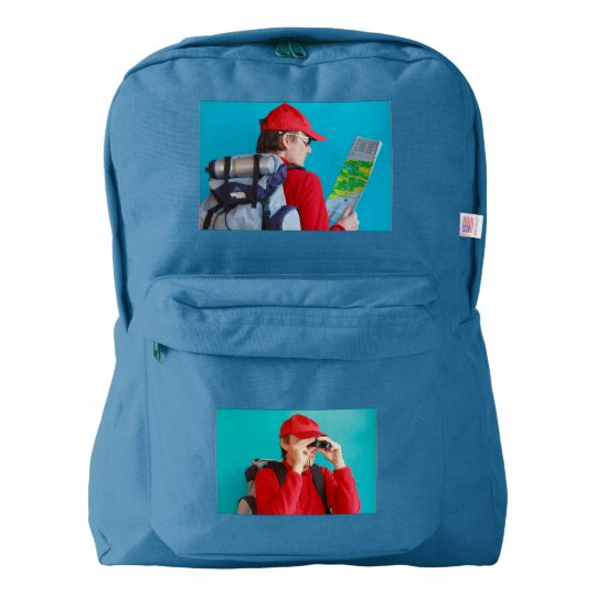 a trekker on American Apparel™ Backpack, Backpack