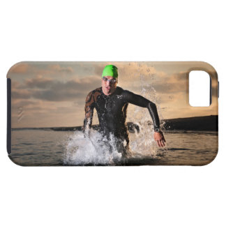 A triathlete at the ocean iPhone 5 cases