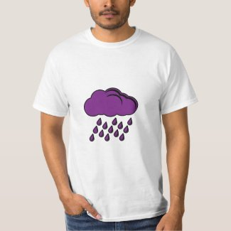 Purple Rain Cloud Tribute T-shirt