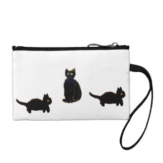 A trio of Cute Black Cats Coin Purse