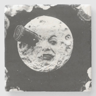 A Trip to the Moon Stone Beverage Coaster
