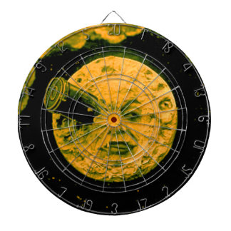 A Trip to the Moon (Gold Tone) Dartboard